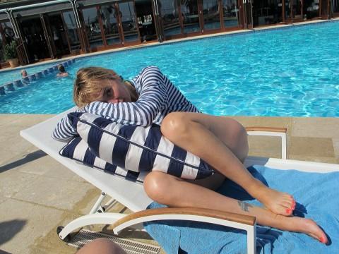 Stripes at pool
